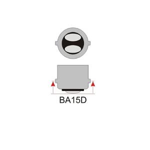 Bajonet led lamp BA15D voor 12 Volt én 24 Volt. Voor op een accu en zonnepanelen