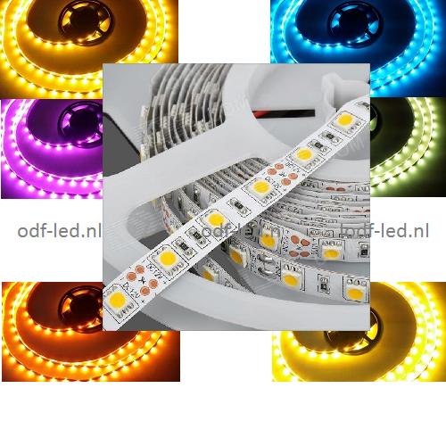 RGB led strip 12 volt plakstrip dimmen dimbare led strip