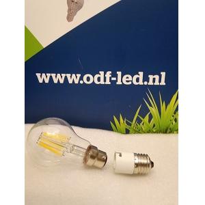 Bajonet BA22D LED Lamp met E27 naar Ba22 lampadapter plaatsen in E27 lampfitting