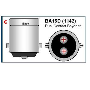 BA15D B15D Bajonet LED Lamp 12Volt 24Volt piekspanning LED lampen verlichting ODF Nederland Dual contact