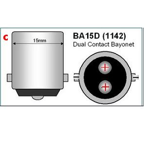 BA15D Bajonet LED lamp 15mm lampfitting 18smd 12Volt 24Volt piekspanning solar bootverlichting auto, camper caravan, solar, zonnepaneel, accu