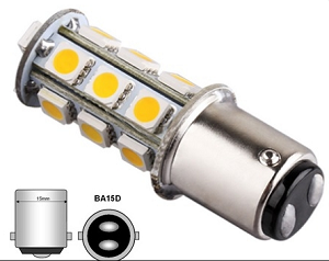 Bajonet BA15D 27smd led lamp 12 Volt 24 Volt