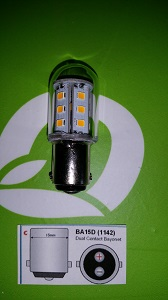 Bajonet led lamp BA15D B15D dual contact 18smd