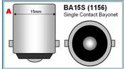 Bajonet BA15S fitting