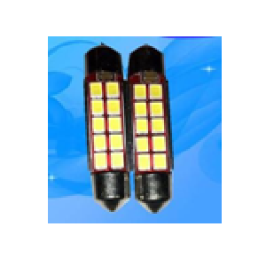 6 Volt - 30 Volt Festoon buis led lampje 38mm 10 leds 2835smd 1.5W