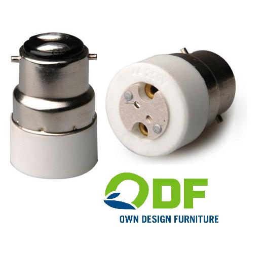 Lamp Adapter BA22D bajonet verloopt naar MR11 socket adapter