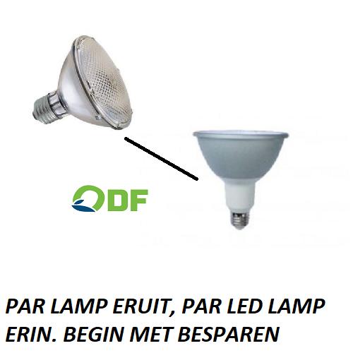 PAR LAMP ERUIT, PAR LED LAMP ERIN. ODF LED LAMPEN WINSCHOTEN GRONINGEN NEDERLAND