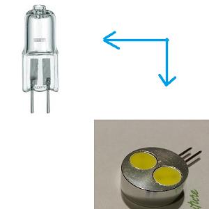 12V 24V G4 halogeen steeklampje priklampje vervangen LED steeklampje