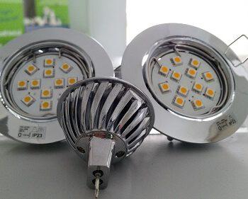 24 Volt MR16 led lichtbron dimmen