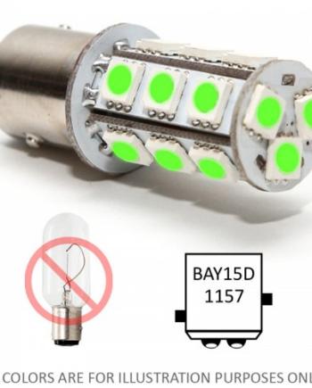 Bajonet led lampje BAY15D groen