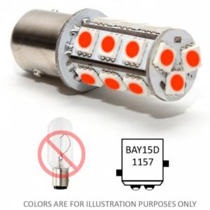 Bajonet led lampje BAY15D rood bay15d red