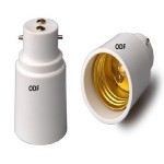 B22 fitting verloopt naar E27 fitting ODF led verlichting winschoten