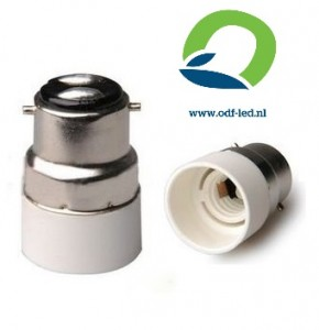 Adapter Bajonet BA22 verloopt naar E14 fitting voet socket