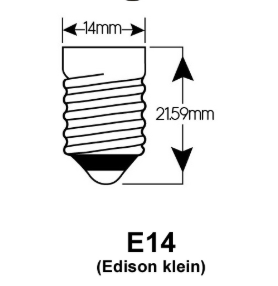 E14 EDISON LED LAMPEN FITTINGEN