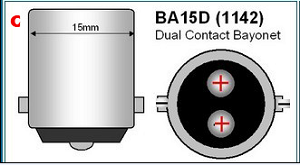 ba15d bajonet LED LAMP 1142 dual contact bajonet