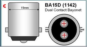ba15d bajonet LED LAMP 1142 dual contact bajonet