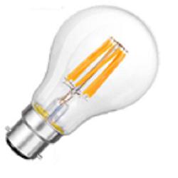 Bajonet B22D led lampen