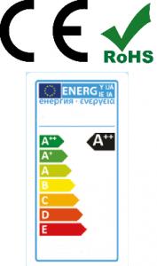 Energielabel LED Verlichting. Ce en RoHs gecertificeerd