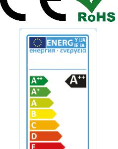 Energielabel LED Verlichting. Ce en RoHs gecertificeerd ODF LED Verlichting