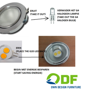 g4 halogeen vervangen door led 12 volt