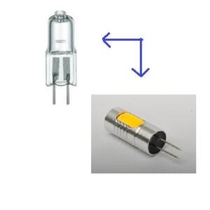 G4 halogeen lampje afzuigkap inbouwspotje vervangen door led lampje