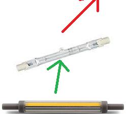 R7S 118 mm led lampen lichtbronnen ultra dun buislampen ODF Winschoten Groningen Nederland