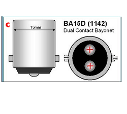 Bajonet led lampen verlichting BA15D 1142 Dual Contact bajonet ODF Led Verlichting lampen Winschoten Groningen Nederland