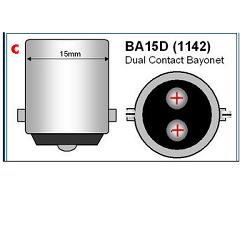 Bajonet BA15D LED lampen