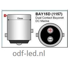 Bajonet LED BA15D MARINE