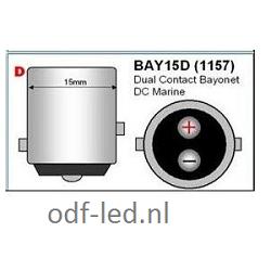 Bajonet led lampen verlichting bulb lights BAY15D marine led dual contact bayonet 1157 ODF Winschoten Groningen Nederland