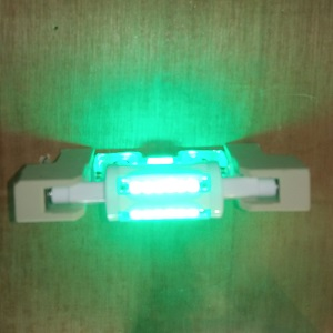 R7S78mm Halogeen replace LED Green LED lighting color