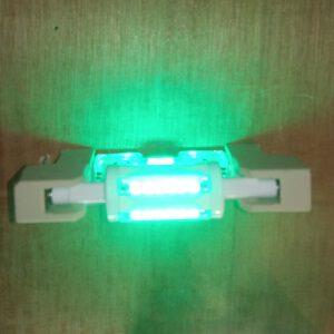 R7S78mm buislamp staaflamp Groene LED Verlichting lichtbron