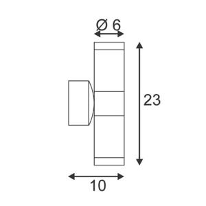 ODF WANDARMATUUR EXTERIEURLEDVERLICHTING MET VERVANGBARE LED LICHTBRONNEN 2XGU10 5WATT 450LM ASTINA ALU-BR Wandlampen