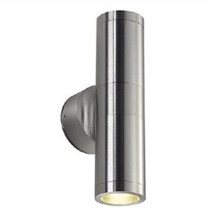 WANDARMATUUR EXTERIEURVERLICHTING MET VERVANGBARE LED VERLICHTING 2XGU10 ASTINA ALU-BR Wandlampen