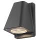 Wandlamp Antraciet Wallyx met vervangbare led verlichting