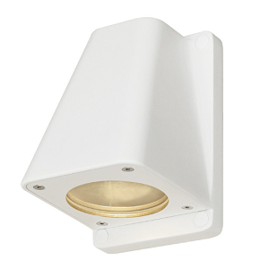 buitenwandlamp wit vervangbare led lichtbron weiße Wandleuchte Wallyx GU10 IP44