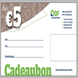 Duurzaam Kado Bon 5 euro duurzaam kado kopen voor sinterklaas moederdag vaderdag kerstfeest kerstdagen ODF LED Verlichting LED lampen