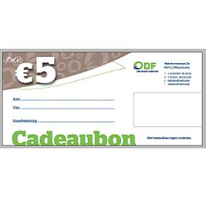 5 EURO Cadeaubon duurzaam cadeau duurzaam kado gift tegoedbon