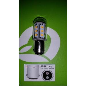 1142 BA15D LED Lamp 12V 24V 3000Kelvin warm licht