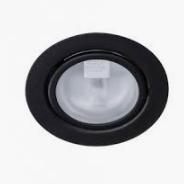 12v meubelinbouwspot zwart diameter 55mm