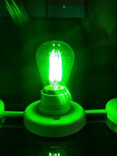 12V E27 LED Bulb 24V E27 LED Bulb green LED lighting dimmen