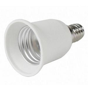 Lamp Adapter E14 naar E27 lampfitting Lamp Adapter E14, 14mm lampfitting verloopt naar 27mm E27 lampfitting Plaats eenvoudig een E27 LED Lamp in een E14 Lampfitting met deze lampadapter