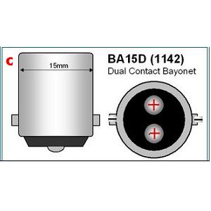 BA15D LED Dual 4000Kelvin 12Volt 24Volt piekspanning wit LED licht Bajonet lichtbron bootverlichting camperverlichting accu aansluiting ODF LED