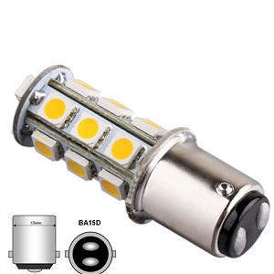 BA15D LED Dual 4000Kelvin wit LED licht Bajonet lichtbron bootverlichting camperverlichting accu aansluiting ODF LED