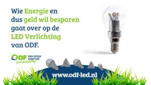 wie energie en geld wil besparen gaat over op LED Verlichting van ODF