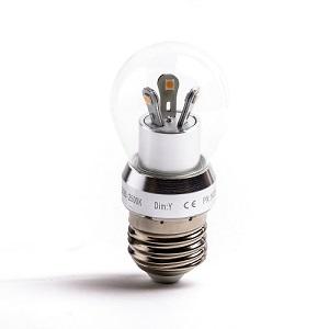 110V E27 LED lamp D40 Vervangt een 25 Watt Gloeilamp met een E27 grote 27mm lampfitting