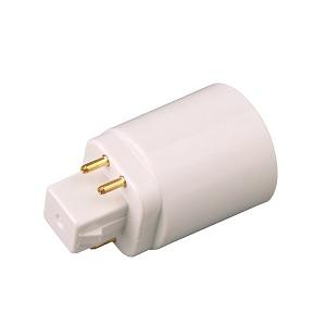 GX24Q 4 pins short neck verloopt naar E27 lamp fitting odf the netherlands led lighting bulbs